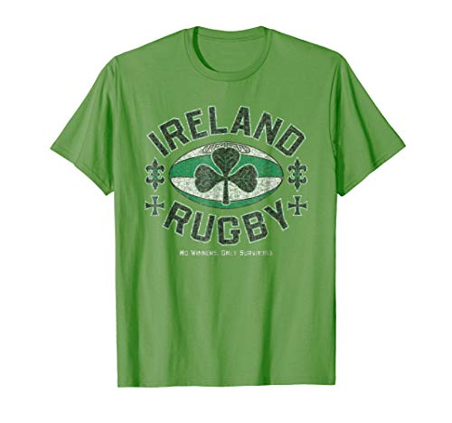 Mens Ireland Rugby - No Winners, Only Survivors T-Shirt