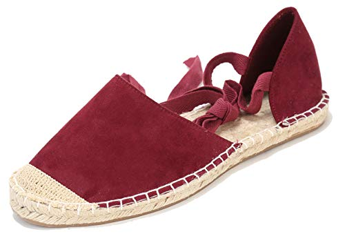U-lite Women's Chamois Leather Summer Outdoor Casual Gladiator Flat Sandals -