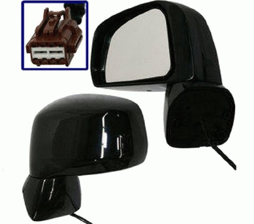 Discount Starter and Alternator 3380PL Nissan Versa Driver Side Replacement Mirror Power Non-Heated Manual Folding