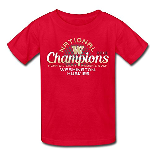 Youth Washington Huskies 2016 NCAA Women's Golf National Champions Girls Boys T-Shirt (Sport Shirt National Golf)