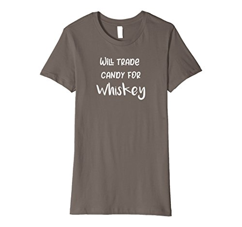 Womens Premium Will Trade Candy for Whiskey Trick or Treat T-Shirt XL (Trunk Or Treating)
