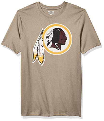OTS mens Rival Tee NFL X-Large, Wolf Grey Washington Redskins,