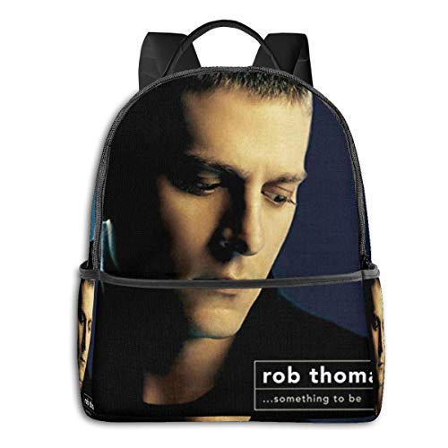 JacobKThompson Rob Thomas Something to Be Ultra-Thin and Durable Laptop Backpack Travel Backpack Male and Female Students Backpack