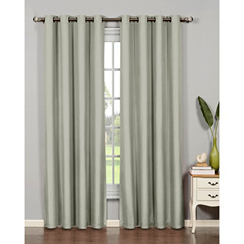 Bella Luna Euphoria Microfiber Room Darkening Extra Wide 54 x 95 in. Grommet Curtain Panel, Light Gray