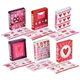 36 Packs Valentine's Day Sticker Mini Gift Boxes