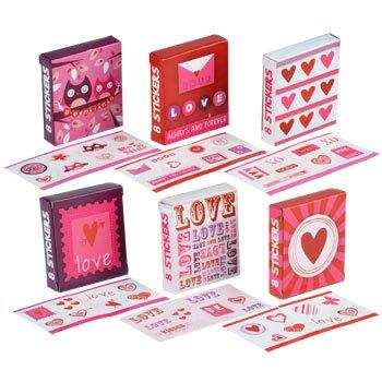 36 Packs Valentine's Day Sticker Mini Gift Boxes - Banded Box