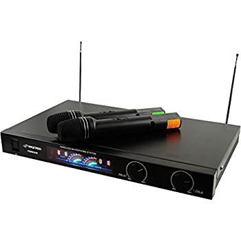 pyle pro pdwm2450 wireless 2 channel vhf microphone system with 2 microphones. Black Bedroom Furniture Sets. Home Design Ideas