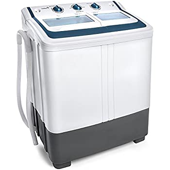 best choice products mini twin tub portable compact washing machine spin dry cycle. Black Bedroom Furniture Sets. Home Design Ideas