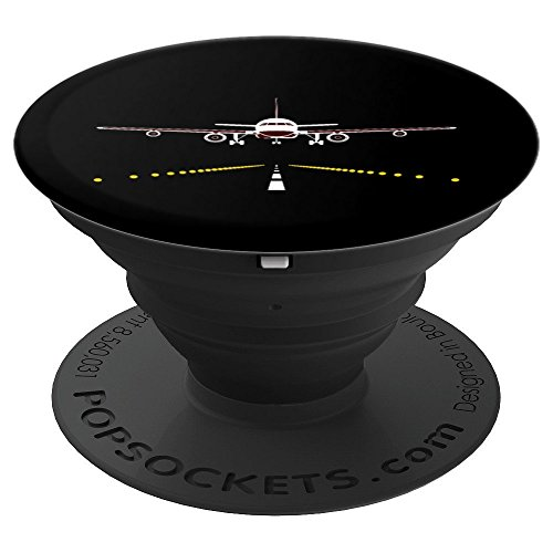 Airplane Landing On Runway - PopSockets Grip and Stand for Phones and Tablets