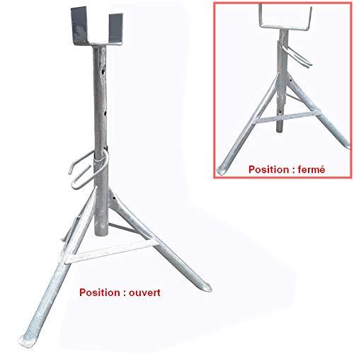 Tr/épied de platrier zingu/é de 0.50 /à 0.80 m