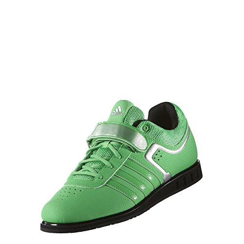 adidas Powerlift2, Unisex Adulti' Multisport Indoor Scarpe - Lime, EU 48
