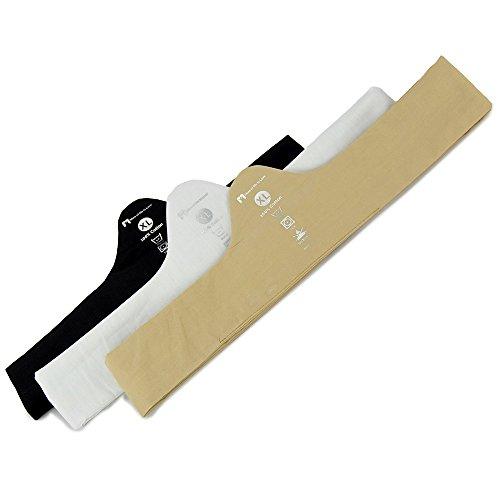 "100% Cotton Bra Liner 3-Pack - Black/White/Beige - X-Large (2"" Tall, 30"" Long)"