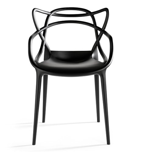 2xhome Master (Black) Dining Chair