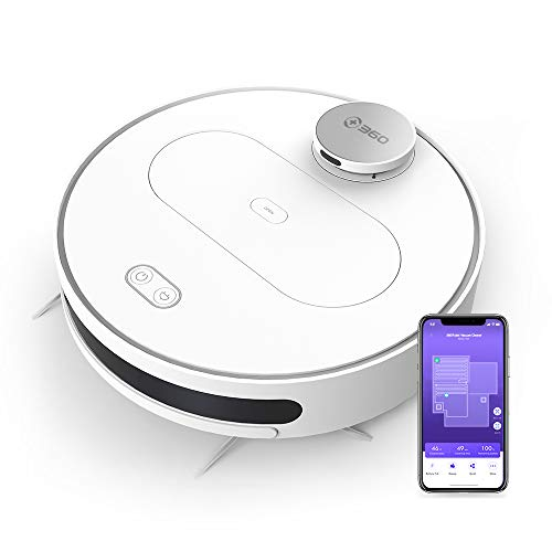 360 Robotic Vacuum Cleaner with Laser Navigating, Multiple-Floor Mapping, Sweep, Mop,...