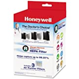Fibre-Metal by Honeywell - Allergen Remover Replacement HEPA Filters, 3/Pack