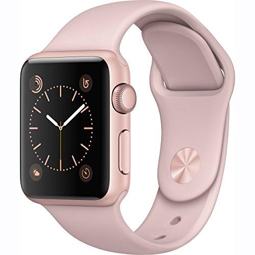 Apple-Watch-Series-1-38mm-Smartwatch-Rose-Gold-Aluminum-Case-Pink-Sand-Sport-Band