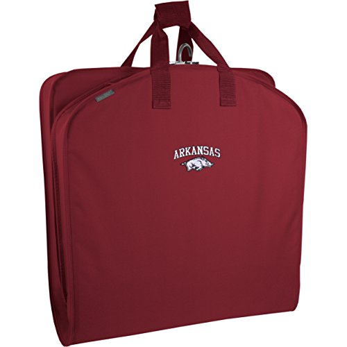 wallybags-arkansas-razorbacks-40-inch-suit-length-garment-bag-red-ar-one-size