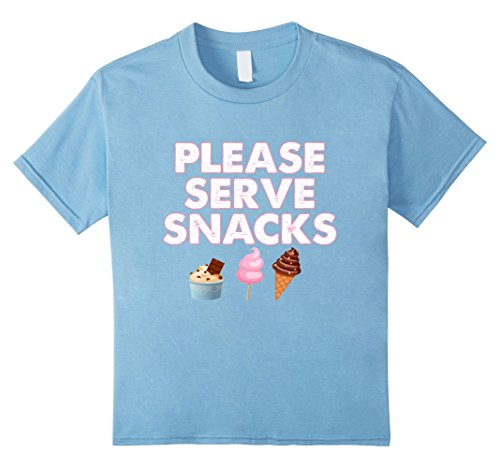 Kids Please Serve Snacks - Funny Halloween Sweets T Shirt 8 Baby (Halloween Snacks For Toddlers)