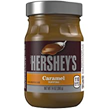 HERSHEY'S Dessert Topping, Caramel Syrup, Gluten Free, 14 Ounce Jar (Pack of 6)