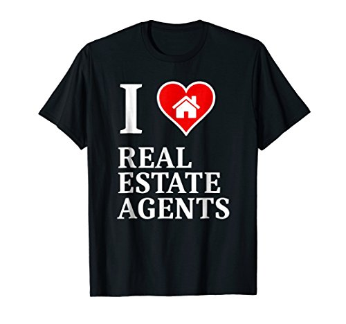 I Heart Real Estate Agents tee shirt for business