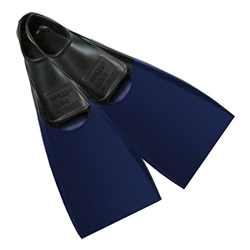 Deep Blue Gear Aquanaut II Fins for Diving, Snorkeling, and Swim, Adult Size 7-8, Blue