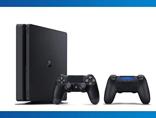 Consola Playstation Slim de 1TB + Controlador inalámbrico DualShock 4 Paquete Jet Black (2 - Artículos)