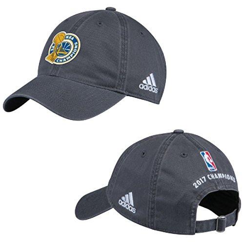 (adidas Golden State Warriors 2017 NBA Finals Champions Grey Locker Room Unstructured Adjustable Cap/Hat)