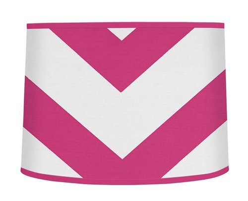 Sweet Jojo Designs Hot Pink and White Chevron ZigZag Lamp Shade