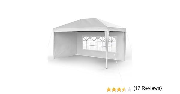 Sekey 3x4m jardín Impermeable Gazebo/Garden Pavilion/Ajustable/Garden Tent Legs, para jardín/Fiesta/Boda/Picnic, UV30 +, Paredes Laterales, Blanco: Amazon.es: Jardín