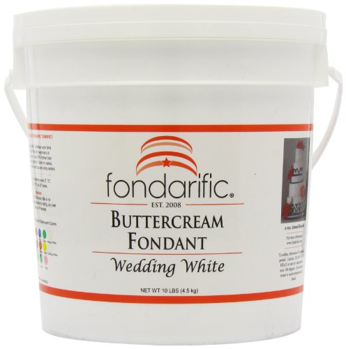 Fondarific Buttercream Wedding White Fondant, 10-Pounds