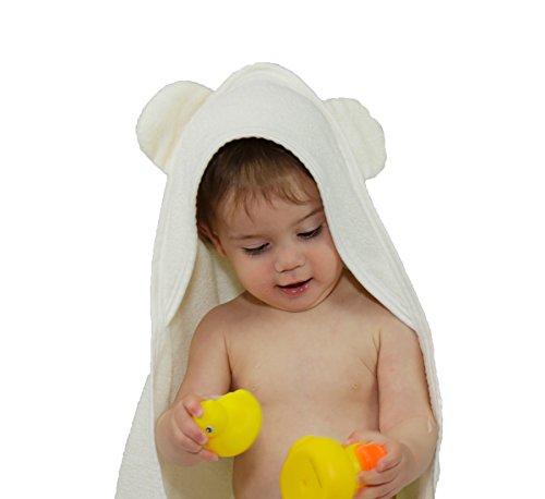 Ecocie Bamboo Hooded Baby Towel + Washcloth Set 100% Natural