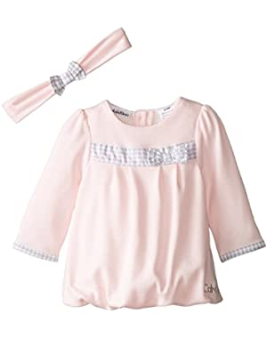 Baby Girls' Pink Dress with Headband