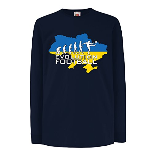 lepni.me Kids Boys/Girls T-Shirt Evolution Football - Ukraine, Championship, World Cup Soccer Team Fan Shirt (14-15 Years Blue Multi Color)