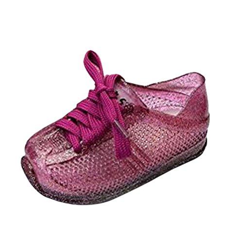 Zhuhaixmy Kinder Baby Mädchen Jungen Freizeit Anti-Rutsch Weich Gelee Riemen Lässige Schuhe Kleinkind Strand Sandalen Regen Stiefel Violett