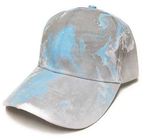 Baseball Cap Hat Women Men Kids - Adjustable - Handmade Dyed Colored - Blue, Gray/Grey, White -