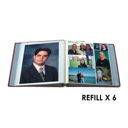 Pioneer Refill Pages for the PMV-206 Post Bound Magnetic Album, Six Packs of 5 Sheets, 30 Sheets Total PIPMVP