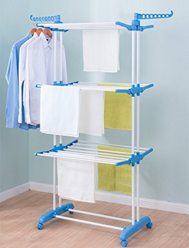 21ac2da3cbcd TNC Indian Made Double POLL Clothes Drying Stand  Amazon.in  Home   Kitchen