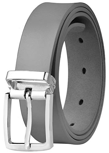 "Falari Kids Leather Belts for Boys All Occasion 1"" Trim to Fit - One Piece Leather Cutting"