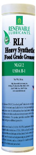 Renewable Lubricants Heavy Synthetic Food Grade NLGI 2 Grease, 14 oz Tube
