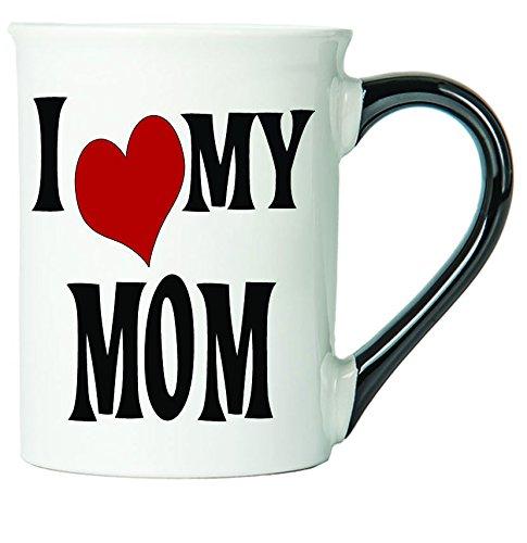 Love Mug Mom - I Love My Mom Coffee Mug, Ceramic Mom Coffee Cup, Mom Gifts By Tumbleweed