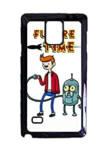 Engood Design Futurama & Adventure Time Crossover Case Durable Unique Design Hard Back Case Cover For Samsung Galaxy Note 4 New