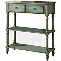 ACME Laney Antique Green Console Table