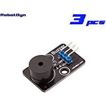RobotDyn - 3 PCS - Buzzer module, for DIY projects compatible for Arduino, Raspberry pi, STM32. For 3.3V/5V.