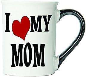 I Love My Mom Coffee Mug, Ceramic Mom Coffee Cup, Mom Gifts By Tumbleweed