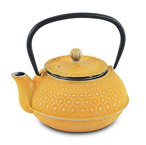 Art Deco Home - Tetera Amarilla 0,6 l Hierro: Amazon.es: Hogar