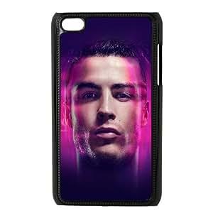 iPod Touch 4 Case Black Cristiano Ronaldo Amazing Face Soccer OJ470847