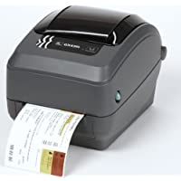 Zebra GX43-102412-000 GX430T Direct Thermal/Thermal Transfer Printer, 300 DPI, Monochrome, Desktop, Label Print, 7.5 H x 7.6 W x 10 D, With Serial/USB/Ethernet Connections and Cutter