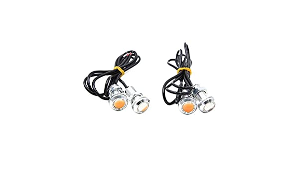 Amazon.com: eDealMax 4pcs Color ámbar de Eagle Eye COB LED corriente Diurna del coche DRL luz de reserva DE 12 V DC: Automotive