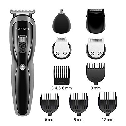 SUPRENT Beard Trimmer Kit, All in 1 Multi-functional Groomer Kit of Mustache Trimmer, Nose Hair Trimmer and Precision Trimmer by SUPRENT