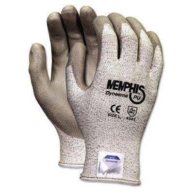 Memphis Dyneema Polyurethane Gloves, Large, White/Gray, Pair, Sold as 1 Pair, 2 per Pair
